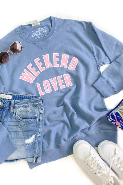 """Weekend Lover"" Graphic Sweatshirt"