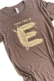 """Corn E"" Graphic Tee Brown"