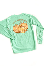 """Spices Your Pumpkin"" Anna Grace L/S T-Shirt"