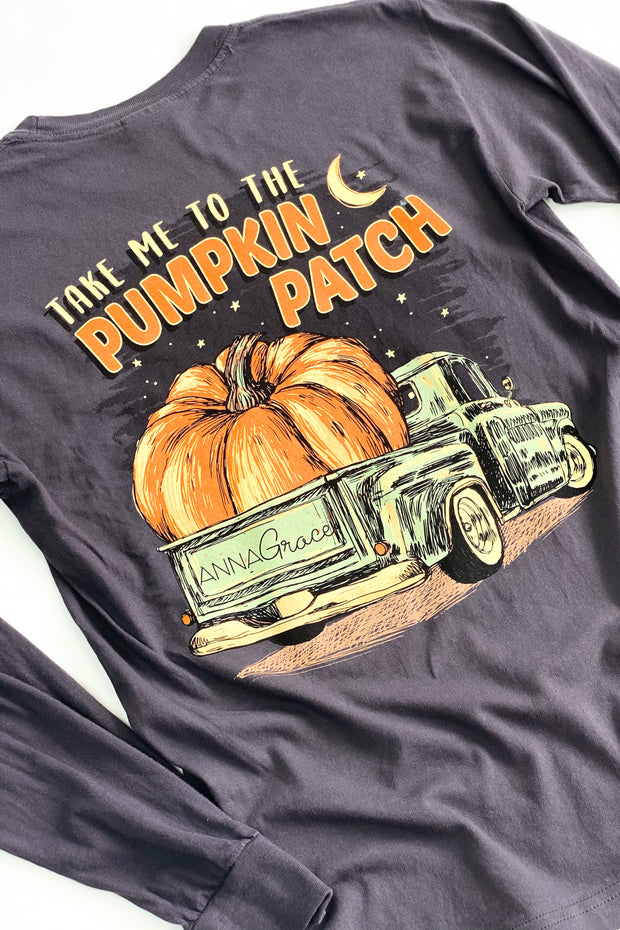 """Pumpkin Patch"" Anna Grace L/S T-Shirt"