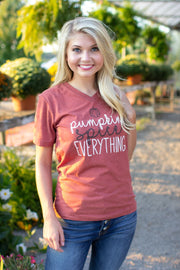 """Pumpkin Spice Everything"" Graphic Tee"