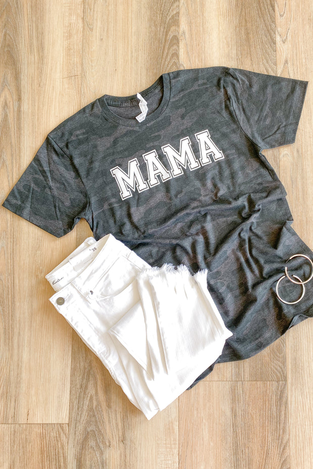 Mama Camo Graphic T-Shirt