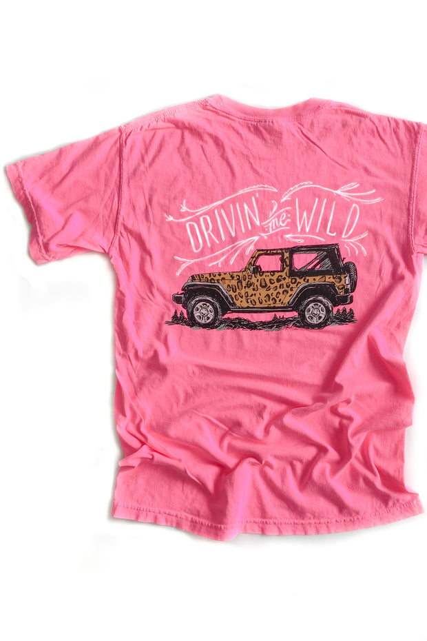 Cheetah Jeep Anna Grace T-Shirt S/S
