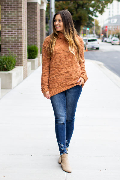 Cozy Little Thing Popcorn Sweater Clay
