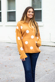 On The Dot Sweater Marigold