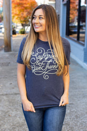 """Say Grace and Give Thanks"" Graphic Tee"