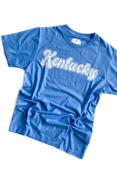 Retro Kentucky Graphic T-Shirt Blue