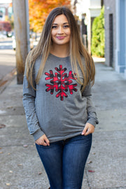 Buffalo Plaid Snowflake LS