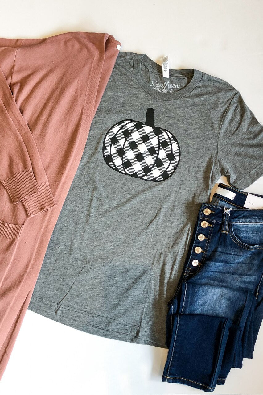 Plaid Pumpkin Graphic Tee