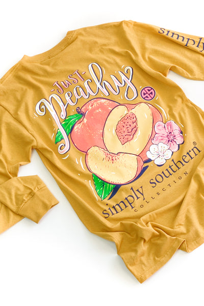 Just Peachy Simply Southern L/S T-Shirt - SALE
