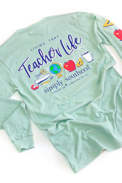 Teacher Life Simply Southern L/S T-Shirt