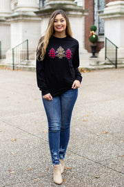 """These Three Trees"" Applique Long Sleeve T-Shirt"