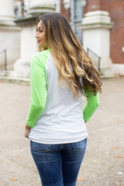 """I Tried"" Raglan Green"