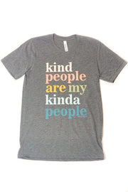"""Kind People"" Graphic Tee Heather Grey"