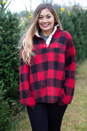 Get Cozy Buffalo Plaid Pullover