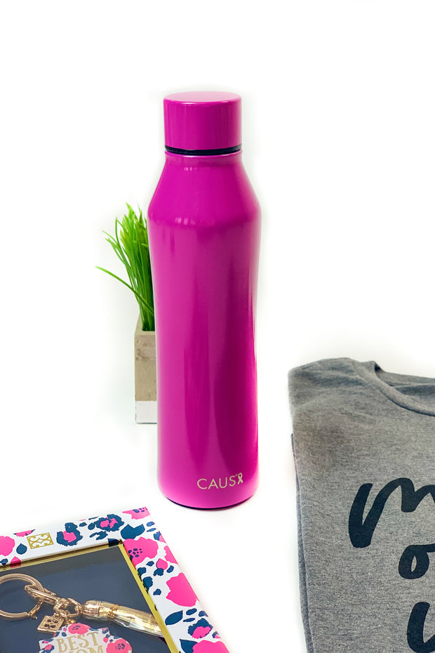 CAUS Curved Drink Bottle Magenta