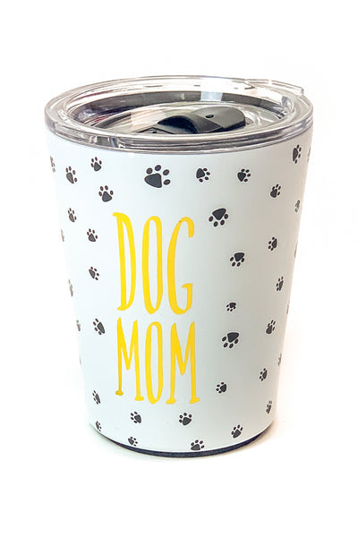 """Dog Mom"" Stainless Coffee Tumbler"