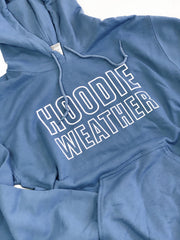 """Hoodie Weather"" Sweatshirt Blue"