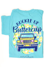 """Buckle Up"" Anna Grace S/S T-Shirt"