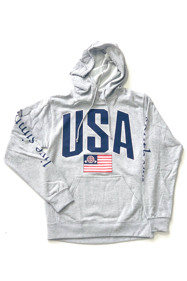 USA Simply Southern Hoodie Grey