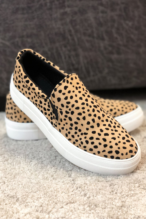 """Reese"" Slip On Sneakers Cheetah Print"