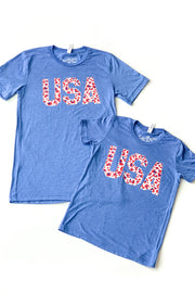 YOUTH USA Patriotic Leopard Graphic Tee