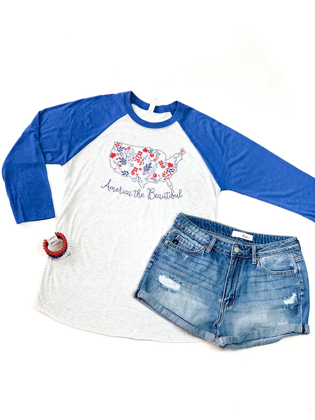 America The Beautiful Raglan