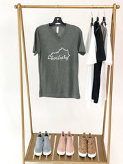 Kentucky Script Outline Graphic Tee