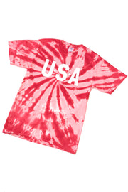 USA Tie-Dye Graphic T-Shirt Red