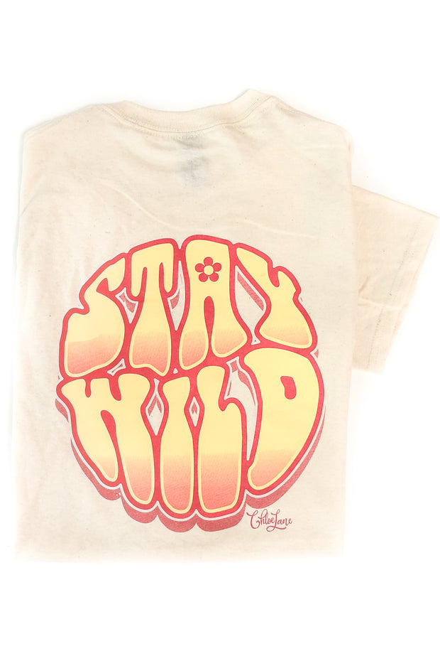 """Stay Wild"" Chloe Lane T-Shirt S/S"