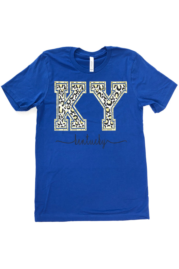 KY Cheetah Graphic Tee Royal