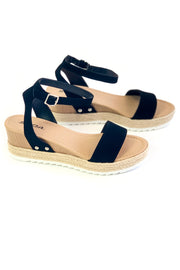 Sam Wedge Espadrille Sandal Black