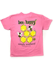 YOUTH Bee Happy Simply Southern T-Shirt S/S