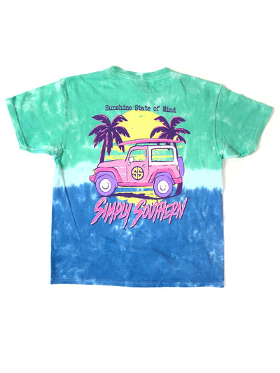 State of Mind Jeep Simply Southern Tie-Dye T-Shirt S/S