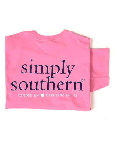 Simply Southern Logo T-Shirt S/S Flamingo - FINAL SALE