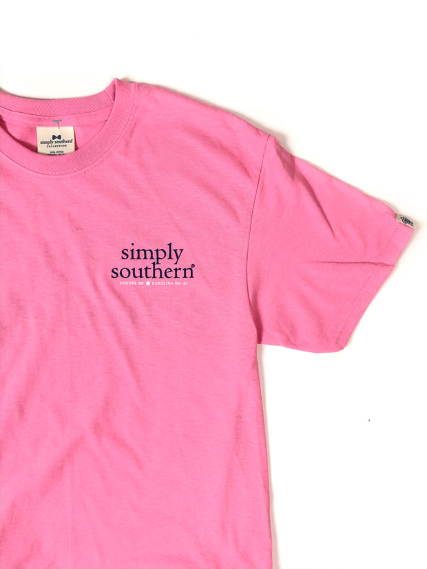 Simply Southern Logo T-Shirt S/S Flamingo