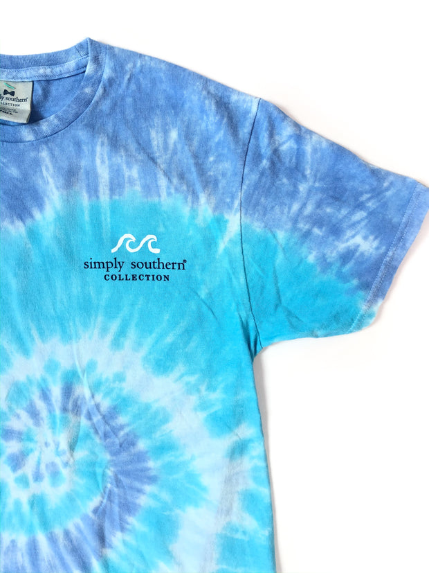Saltwater Tide Simply Southern T-Shirt S/S Blue Tie-Dye