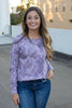 Nia Tie-Dye Sweatshirt Light Purple