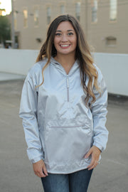 Chatham Anorak Pullover Satin Silver