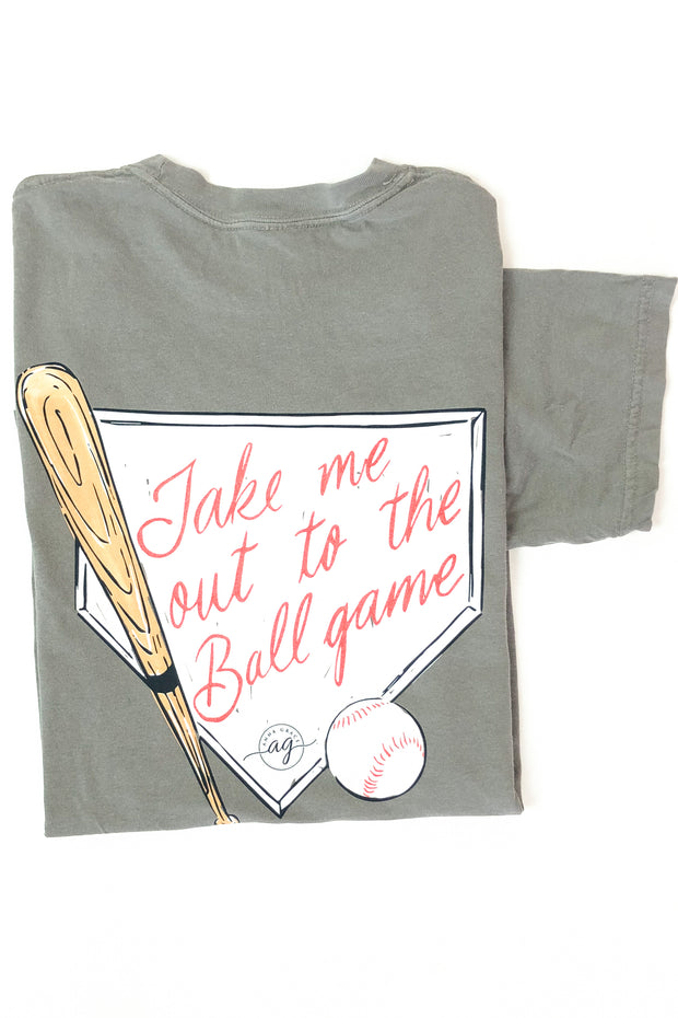 """Out to The Ballgame"" Anna Grace T-Shirt S/S"