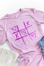 """TicTacToe"" Graphic T-Shirt Lilac"