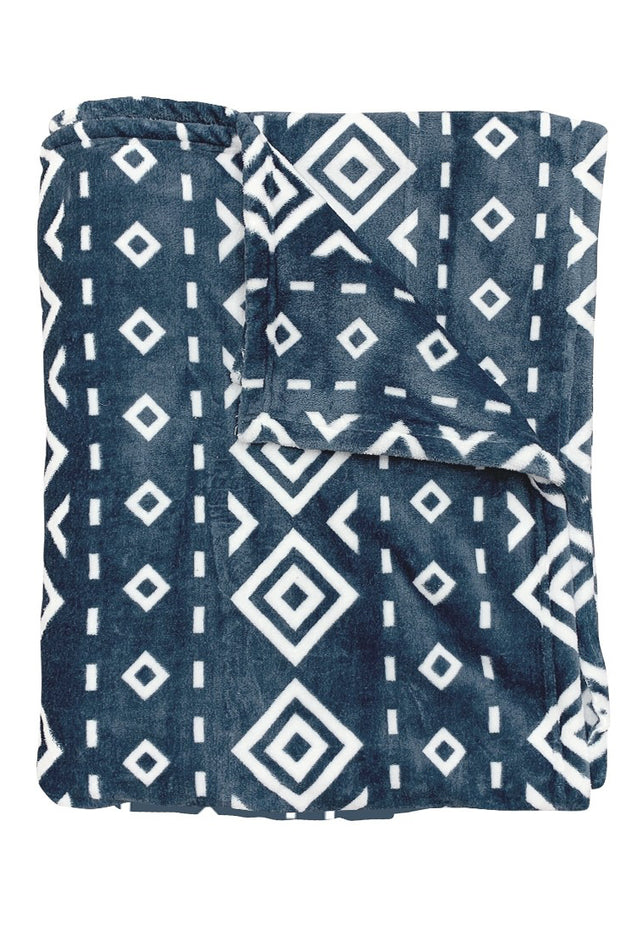 """Wrap Me In Warmth"" Blanket Blue Diamond"