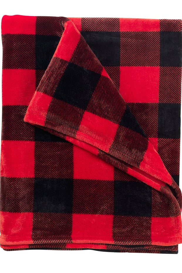 """Wrap Me In Warmth"" Blanket Buffalo Plaid"