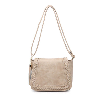 Braided Saddle Bag Crossbody Sand