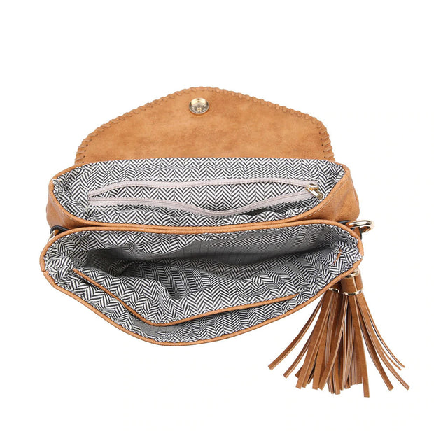Whipstitch Envelope Crossbody Coffee