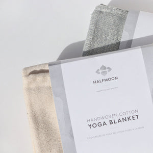 Hand-loomed Cotton Yoga Blanket