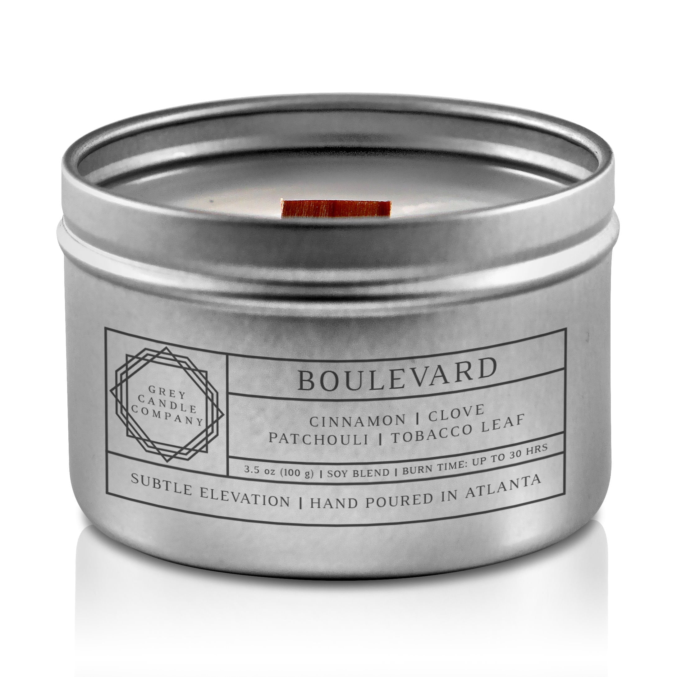BOULEVARD CANDLES Grey Candle Company 3.5 oz. TIN
