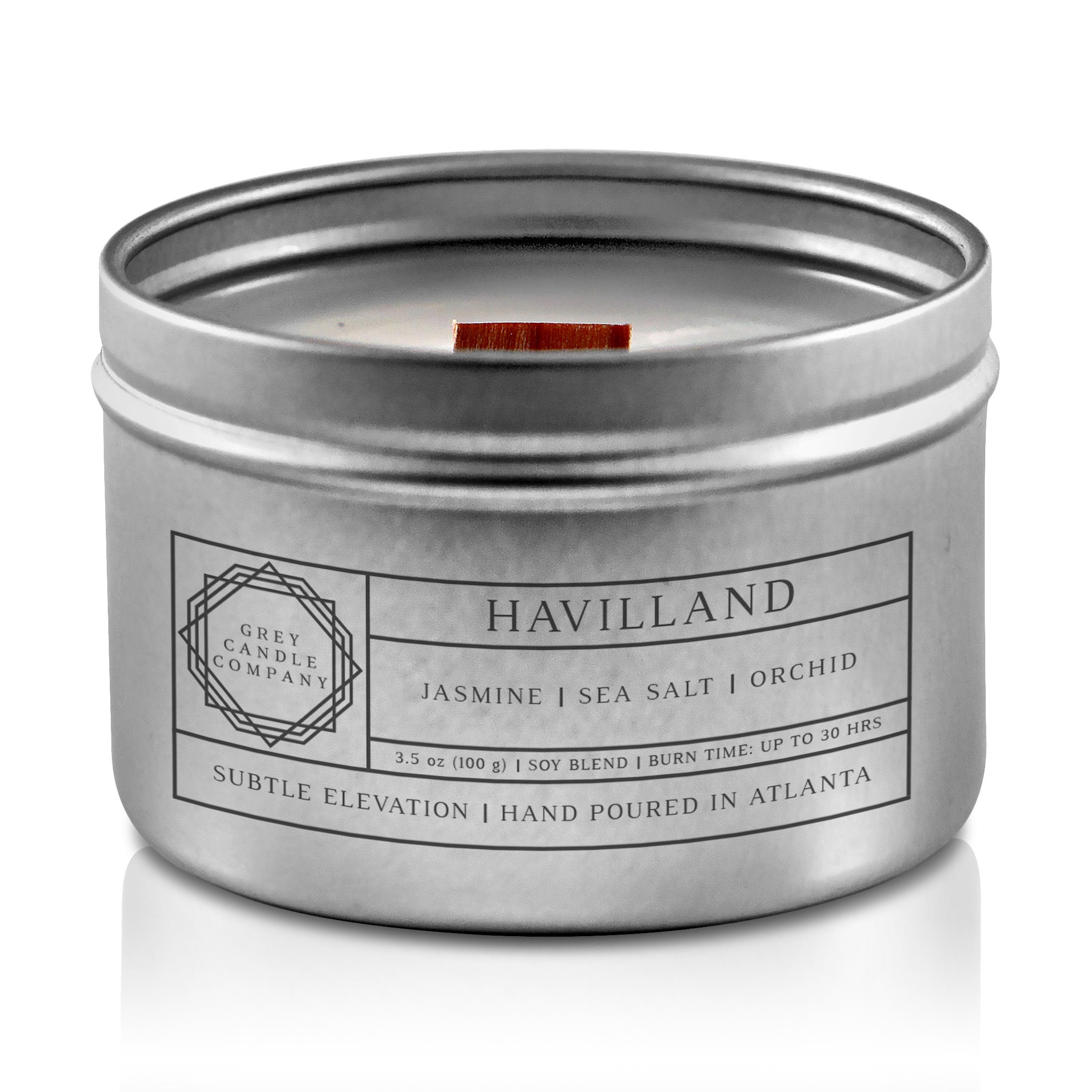 HAVILLAND CANDLES Grey Candle Company 3.5 oz. TIN