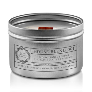HOUSE BLEND 001 CANDLES Grey Candle Company 3.5 oz. TIN