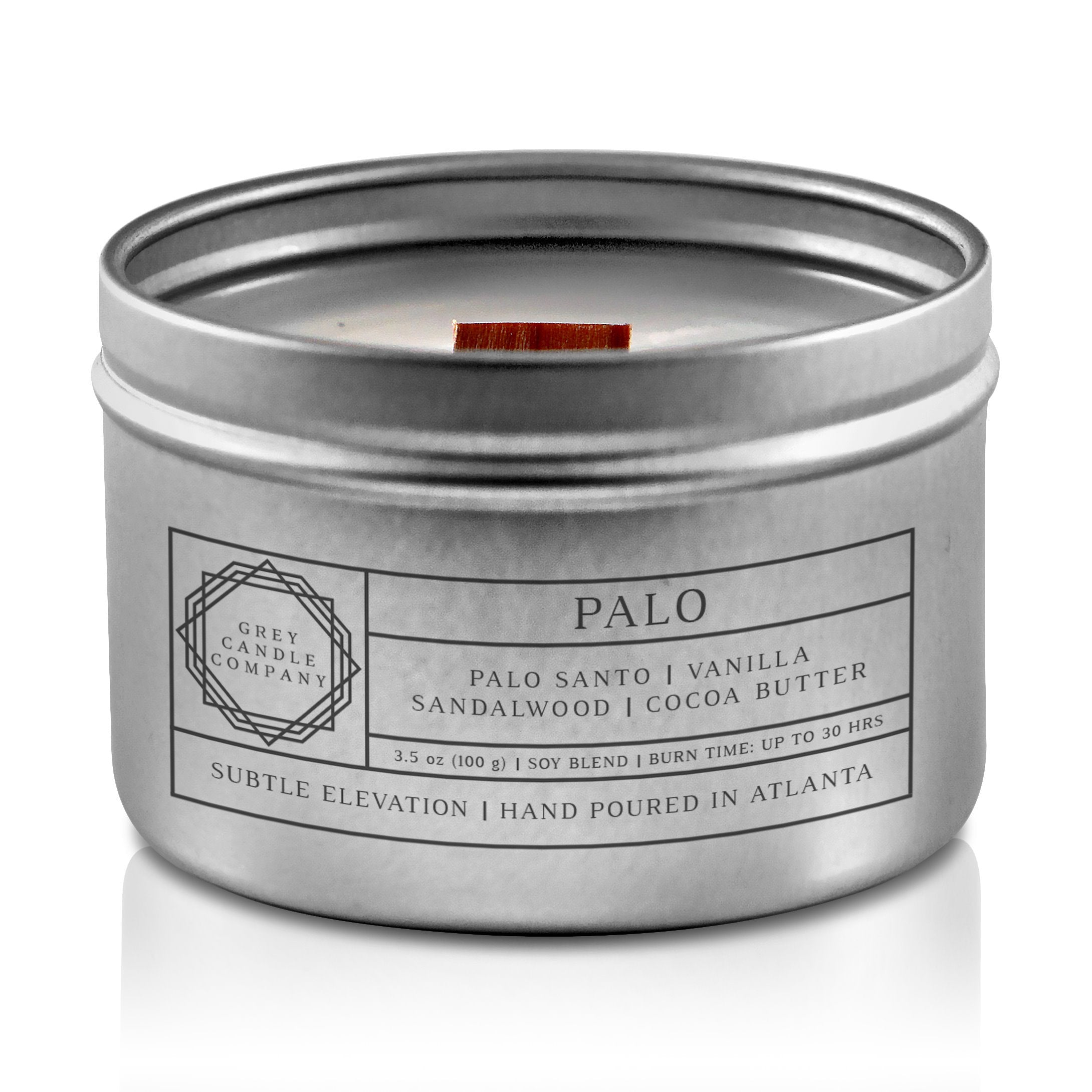 PALO CANDLES Grey Candle Company 3.5 oz. TIN